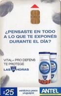 TARJETA TELEFONICA DE URUGUAY. 492a (VITAL + PRO DEFENS) (255) - Uruguay