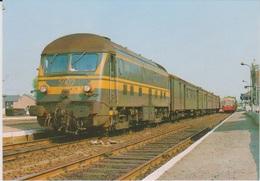 CP - TRAINS - LOCOMOTIVES - Locomotive Diesel-électrique BB Série 59. - Treinen