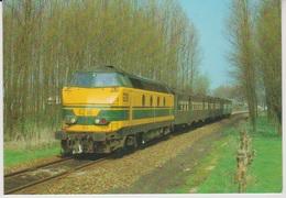 CP - TRAINS - LOCOMOTIVES - Locomotive Diesel-électrique BB Série 62. - Trains