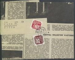 Böhmen Und Mähren #46, 124 Zeitungsstreifband 2.3.43 Mischfrankatur I.+II. Zeitungsmarkenausgabe, Nur 6 Wochen Möglich - Briefe U. Dokumente