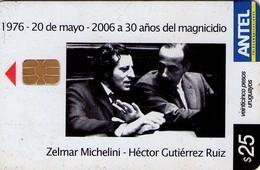 TARJETA TELEFONICA DE URUGUAY. 452a (30 AÑOS DEL MAGNICIDIO) (242) - Uruguay
