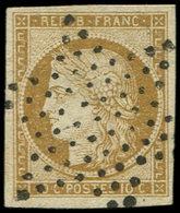 EMISSION DE 1849 - 1    10c. Bistre-jaune, Obl. ETOILE, Superbe. S - 1849-1850 Ceres