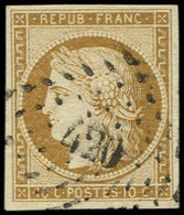 EMISSION DE 1849 - 1    10c. Bistre-jaune, Oblitéré PC 420, TTB. Br - 1849-1850 Ceres