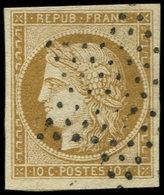 EMISSION DE 1849 - 1    10c. Bistre-jaune, Oblitéré ETOILE, TTB - 1849-1850 Ceres