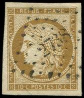 EMISSION DE 1849 - 1b   10c. Bistre-VERDATRE, Obl. PC 2738, Grandes Marges, Superbe. C - 1849-1850 Ceres