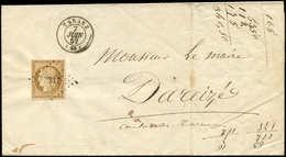 Let EMISSION DE 1849 - 1    10c. Bistre Jaune, Obl. PC 3317 S. LAC, Càd T15 TARARE 7/6/52, TB - 1849-1850 Ceres