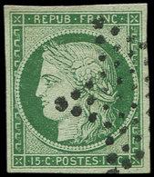 EMISSION DE 1849 - 2    15c. Vert, Oblitéré ETOILE, TB. Br - 1849-1850 Ceres