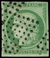 EMISSION DE 1849 - 2    15c. Vert, Oblitéré Losange De 81 Pts, TB - 1849-1850 Ceres