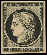 * EMISSION DE 1849 - 3    20c. Noir Sur Jaune, Infime Charnière, Frais Et TTB - 1849-1850 Ceres
