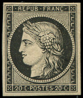 * EMISSION DE 1849 - 3    20c. Noir Sur Jaune, TB - 1849-1850 Ceres