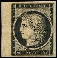 * EMISSION DE 1849 - 3    20c. Noir Sur Jaune, Petit Bdf, Forte Ch., Sinon TB - 1849-1850 Ceres