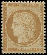 * SIEGE DE PARIS - 36   10c. Bistre-jaune, Frais Et Ch. Légère, TB - 1870 Siege Of Paris