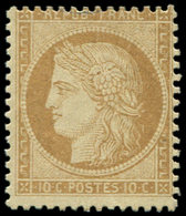 * SIEGE DE PARIS - 36   10c. Bistre-jaune, Centrage Courant, Frais Et TB - 1870 Siege Of Paris