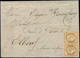 Let SIEGE DE PARIS - 36   10c. Bistre-jaune, PAIRE Obl. GC 271 S. LAC, Càd T16 OISEMONT 11/5/71, TB - 1870 Siege Of Paris