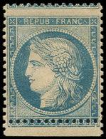 * SIEGE DE PARIS - 37   20c. Bleu, PIQUAGE Décalé, Petit Bdf, TB - 1870 Siege Of Paris