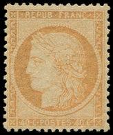 * SIEGE DE PARIS - 38   40c. Orange, Papier Jaunâtre, Tirage De La Commune, TB. C - 1870 Siege Of Paris