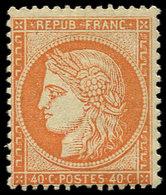 * SIEGE DE PARIS - 38   40c. Orange, Frais Et TB. C - 1870 Siege Of Paris