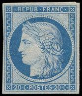 * SIEGE DE PARIS - R37f 20c. Bleu Clair, REIMPRESSION Granet, TB - 1870 Siege Of Paris