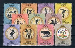 Ungarn 1960 Olympia Mi.Nr. 1686/96 Kpl. Satz ** - Hungary