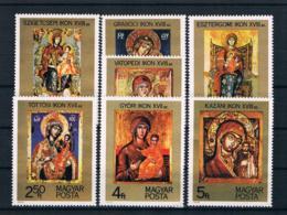 Ungarn 1975 Gemälde Mi.Nr. 3081/87 Kpl. Satz ** - Ungebraucht