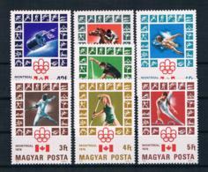 Ungarn 1976 Olympia Mi.Nr. 3125/31 Kpl. Satz ** - Ungebraucht