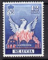 St. Lucia GVI 1951 Reconstruction Of Castries Phoenix, MNH, SG 166 - St.Lucia (...-1978)