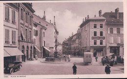 Orbe VD, Place Du Marché, Voitures Et Bus Postal (4442) - VD Vaud