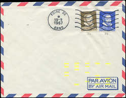Let Spécialités Diverses - PALISSY Pa7 Et Pa11 Obl. Méc. FOIRE De BRNO 19/9/67 Sur Env. Avec Marques Jaunes De Tri élect - Phantom