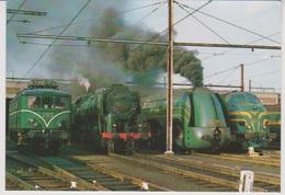 CP - TRAINS - LOCOMOTIVES - Locomotive Historiques - HLE2913-HLV 29.013-12.004-HLD 5403. - Treinen