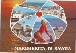 W2395 Margherita Di Savoia (BAT) - Ragazza Girl Femme Frau Chica Pin Up - Panorama Vedute Multipla / Viaggiata 1989 - Pin-Ups