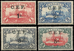 ** CAMEROUN 34/37 : La Série Surchargée C.E.F, TB - Cameroun (1915-1959)