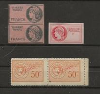 FISCAUX DE FRANCE  5 FICTIFS - Fiscaux