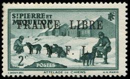 * SAINT PIERRE ET MIQUELON 246 : 2c. Vert, FRANCE LIBRE, TB. C - St.Pierre Et Miquelon