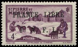 * SAINT PIERRE ET MIQUELON 248 : 4c. Lilas, FRANCE LIBRE, TB. C - St.Pierre Et Miquelon