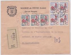REC; MAIRIE De FEURS / 6.7.65 - Marcophilie (Lettres)