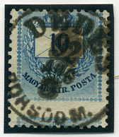 DÉDES 10Kr (nagyon Elfogazva!) Szép Bélyegzés  /  10  Kr Nice Pmk (very Special Perforation) - Hungary