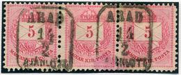 ARAD Ajánlott 5Kr Hárrmas Csík, Szép Bélyegzés  /  Reg. 5 Kr Triple Line Nice Pmk - Hungary