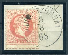 MURASZOMBAT  5Kr  Szép Bélyegzés  /  5 Kr  Nice Pmk - Hungary