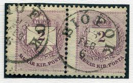 SIÓFOK 2Kr Pár (elfogazva), Szép Bélyegzés  /  2 Kr Pair  (special Perforation) Nice Pmk - Hungary