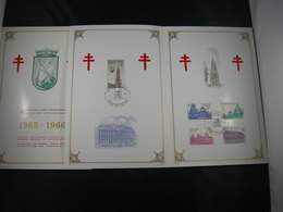"BELG.1965 1354-1358 ""Grand Place De Bruxelles/Brussel Grote Markt: FDC Philacard :Bruxelles /Brussel 4-12-1965"" - 1961-70"