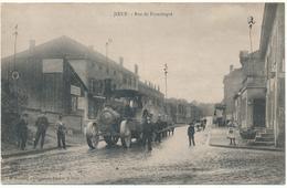 JOEUF - Rue De Franchepré, Tracteur à Vapeur - 2 Scans - France