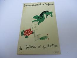 Carte Postale /Semaine Nationale De L'Enfance / Fable De La La Fontaine / Le Liévre Et La Tortue/Vers 1930-50   CPDIV263 - Fiabe, Racconti Popolari & Leggende