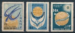 °°° IRAN - Y&T N°1018/20 - 1963 MNH °°° - Iran