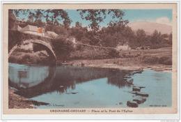 URDINARBE ORDIARP PLACE ET LE PONT DE L'EGLISE 1938 TBE - Autres Communes