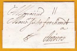 1706 - Lettre Avec Correspondance En Flamand De Vienne, Autriche Vers Anvers, Pays Bas Espagnols, Belgique - Austria