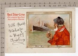 Red Star Line - Antwerpen-New York - Antwerpen-Boston (1906) - Paquebots