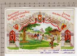 Bernisches Kantonal-Schützenfest Biel 1903 - Scene Aus Dem Festspiel (1903) - Manifestations