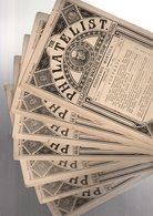"Angleterre Londres  1871 /"" The Philatelist ""  7 Numeros N° 51+55/60 RARE +  Quarterly Price Catalogue  ( Oct 1872 ) - Inglesi (prima Del 1940)"