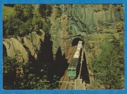 CP - Train - Rampe Nord Du Saint Gothard, Tunnel Hélicoïdal De Leggistein. - Treinen