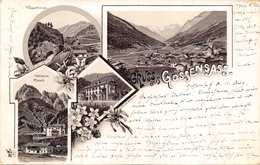 GOSSENSASS-WASSERTUNNEL-TRIBULAUM PFLERSCH 1896 POSTMARK POSTCARD 40183 E - Postcards